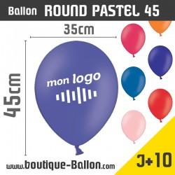 <h2><span>Ballon Publicitaire personnalisé - Pastel 45</span></h2> <p><strong>Round / Diamètre 35cm</strong></p> <p><span>Ballon Round - Ballon Gonflable personnalisé avec votre logo ou texte. Imprimés avec une ou plusieurs couleurs de marquage, nos ballons publicitaires sont un excellent moyen de renforcer la visibilité de votre marque ou votre entreprise.</span></p>