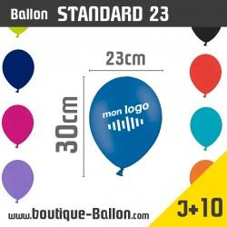 """<h2 dir=""""ltr"""">Ballon de baudruche personnalisé > Marquage 1 couleur > 23cm > Production J+10</h2> <p><strong>Standard / Diamètre 23cm</strong></p> <p>Ballon standard - Un ballon gonflable publicitaire personnalisé avec un diamètre de 23 cm. Marquage une couleur. Panachage de couleur possible. Idéal pour tout type d'événements. Ces ballons de baudruche attireront le regard de tous,pour vous offrir une signalétique remarquable !</p>"""