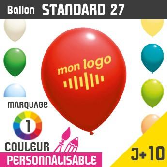 Ballon Standard 27 J+10 - Marquage 1 Couleur