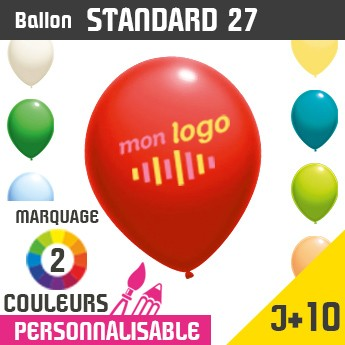Ballon Standard 27 J+10 - Marquage 2 Couleurs