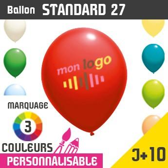 Ballon Standard 27 J+10 - Marquage 3 Couleurs