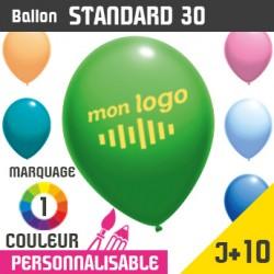 Ballon Standard 30 J+10 - Marquage 1 Couleur