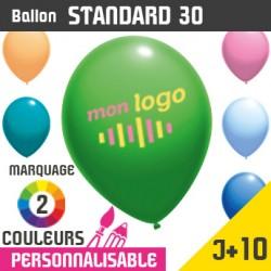 Ballon Standard 30 J+10 - Marquage 2 Couleurs