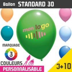 Ballon Standard 30 J+10 - Marquage 3 Couleurs