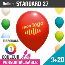 Ballon Standard 27 J+20 - Marquage 1 Couleur