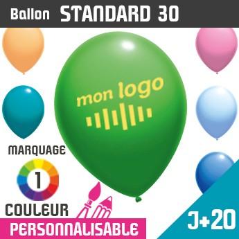 Ballon Standard 30 J+20 - Marquage 1 Couleur