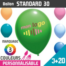 Ballon Standard 30 J+20 - Marquage 3 Couleurs