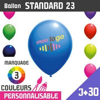 Ballon Standard 23 J+30 - Marquage 3 Couleurs