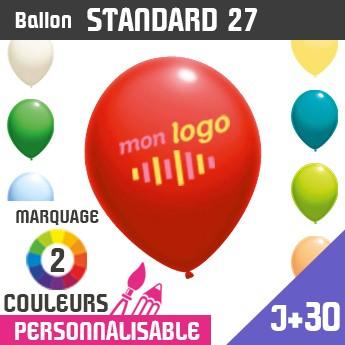 Ballon Standard 27 J+30 - Marquage 2 Couleurs