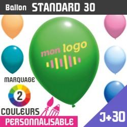 Ballon Standard 30 J+30 - Marquage 2 Couleurs