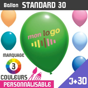 Ballon Standard 30 J+30 - Marquage 3 Couleurs