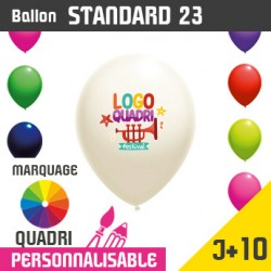 Ballon Standard 23 J+10 - Marquage Quadri