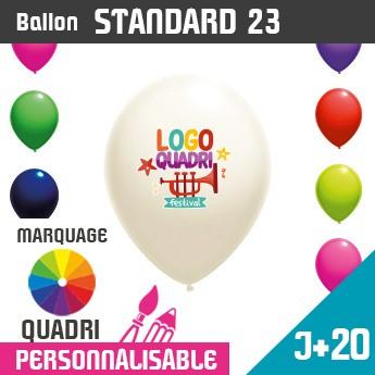 Ballon Standard 23 J+20 - Marquage Quadri