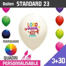 Ballon Standard 23 J+30 - Marquage Quadri