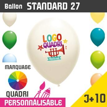 Ballon Standard 27 J+10 - Marquage Quadri