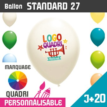 Ballon Standard 27 J+20 - Marquage Quadri