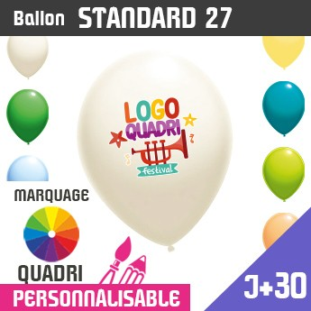 Ballon Standard 27 J+30 - Marquage Quadri