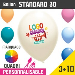 Ballon Standard 30 J+10 - Marquage Quadri