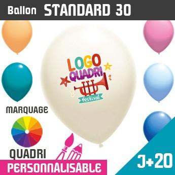 Ballon Standard 30 J+20 - Marquage Quadri