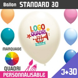Ballon Standard 30 J+30 - Marquage Quadri