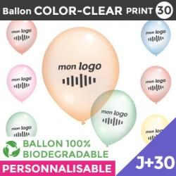 Ballon COLOR-CLEAR30-PRINT J+30
