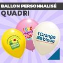Ballon personnalisé Quadri