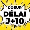 Ballon Personnalisé Coeur J+10