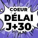 Ballon Personnalisé Coeur J+30