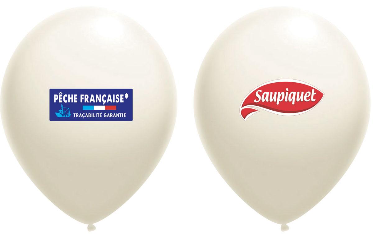 Ballon Saupiquet Blanc