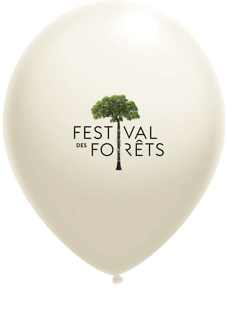 Ballon de baudruche - impression quadri - Festival des Forets