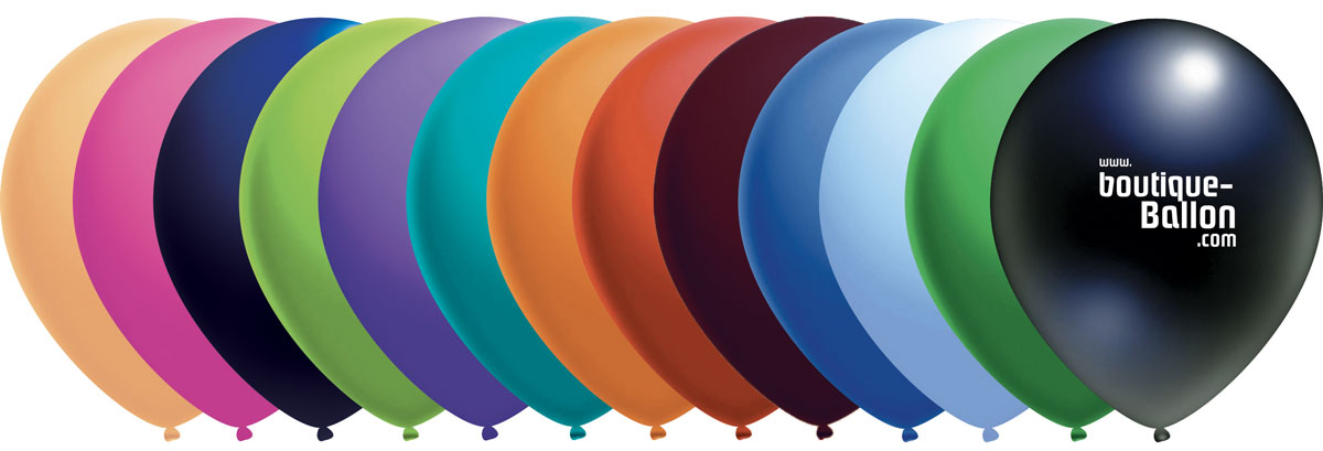 Ballon personnalise - panachage de couleurs
