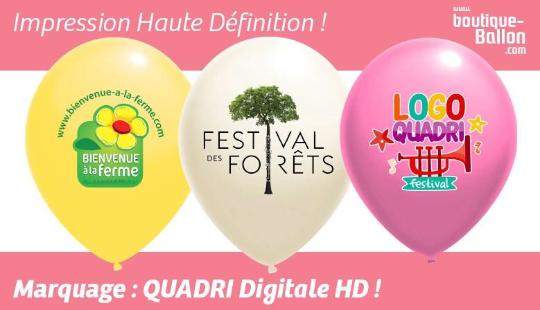 Ballon personnalisé avec Marquage Digitale Quadri HD