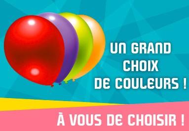Un grand choix de couleurs de ballons publicitaires